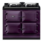 "Dual Control 39"" Electric/Natural Gas Aubergine with Stainless Steel trim"