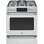 "GE CafeGE CAFEGE Caf(eback) Series 30"" Slide-In Front Control Range with Baking Drawer"