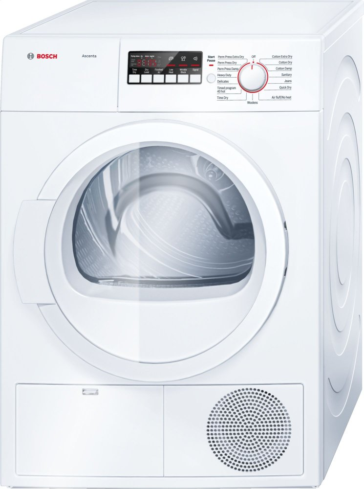 "24"" Compact Condensation Dryer Ascenta - White WTB86200UC