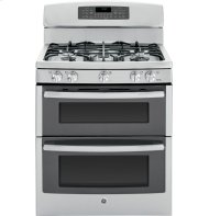 "GE Profile Series 30"" Free-Standing Gas Double Oven with Convection Range"