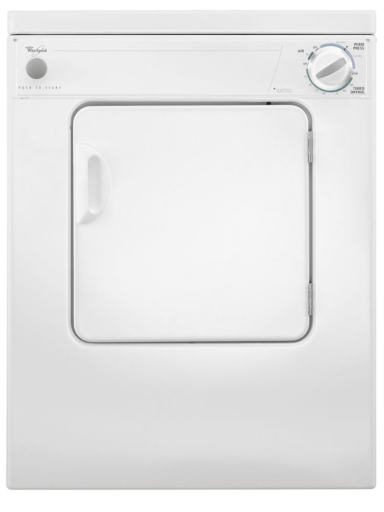3.4 cu. ft. Compact Electric Dryer with AccuDry Drying System  White