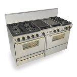 """Five Star 60"""" Dual Fuel, Convect, Self Clean, Sealed Burners, Stainless Steel With Br"""