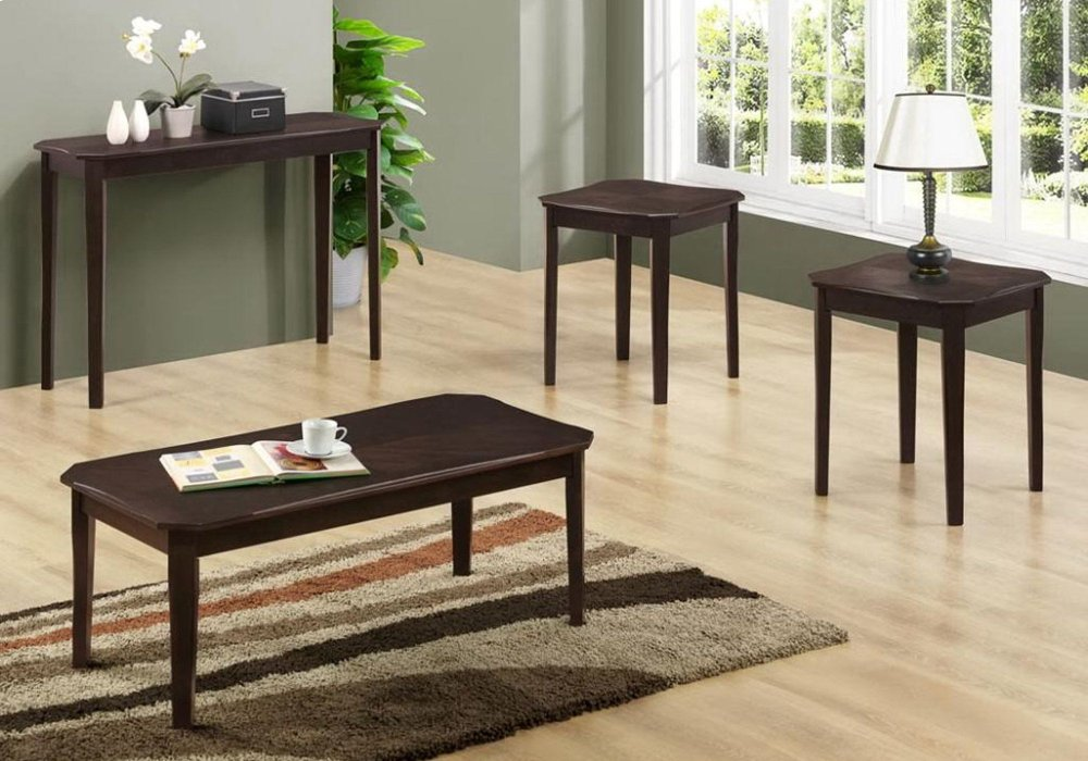 TABLE SET - 3PCS SET / CAPPUCCINO CHERRY VENEER