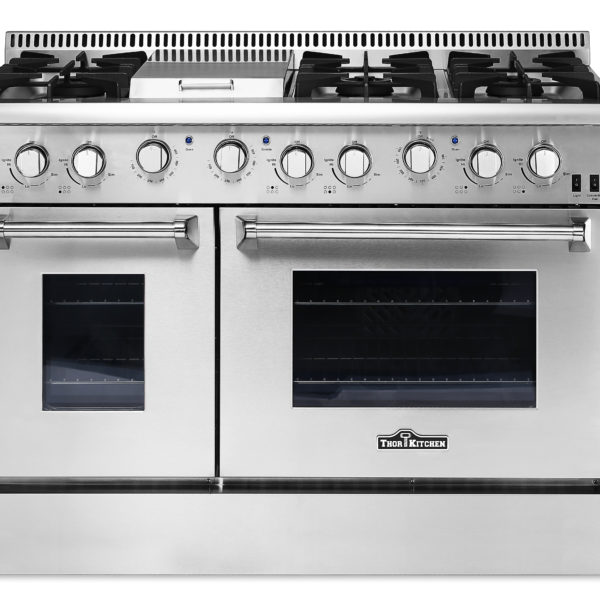 "HRG4808U 48"" 6 Burner Stainless Steel Professional Gas Range"