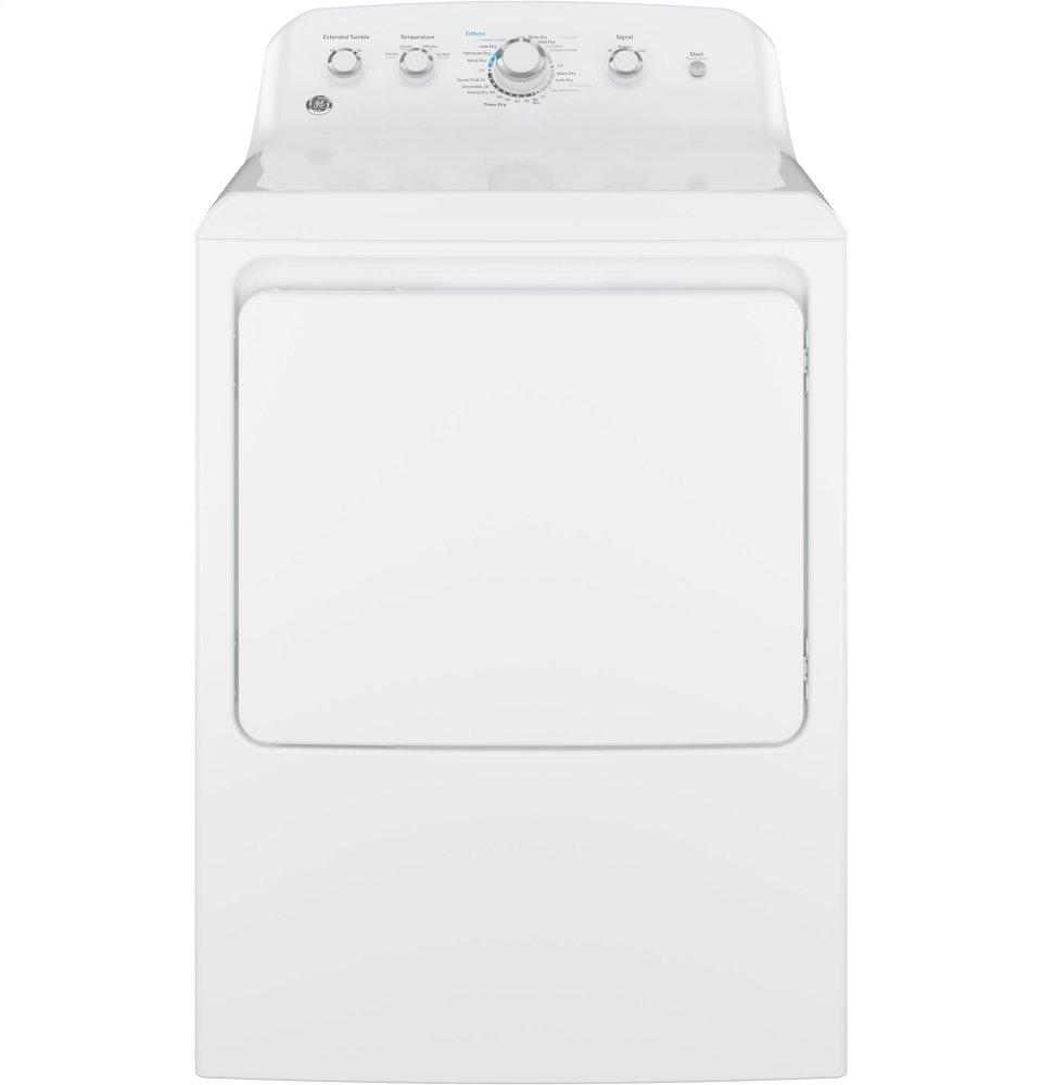 GE(R) 6.2 cu. ft. capacity aluminized alloy drum electric dryer
