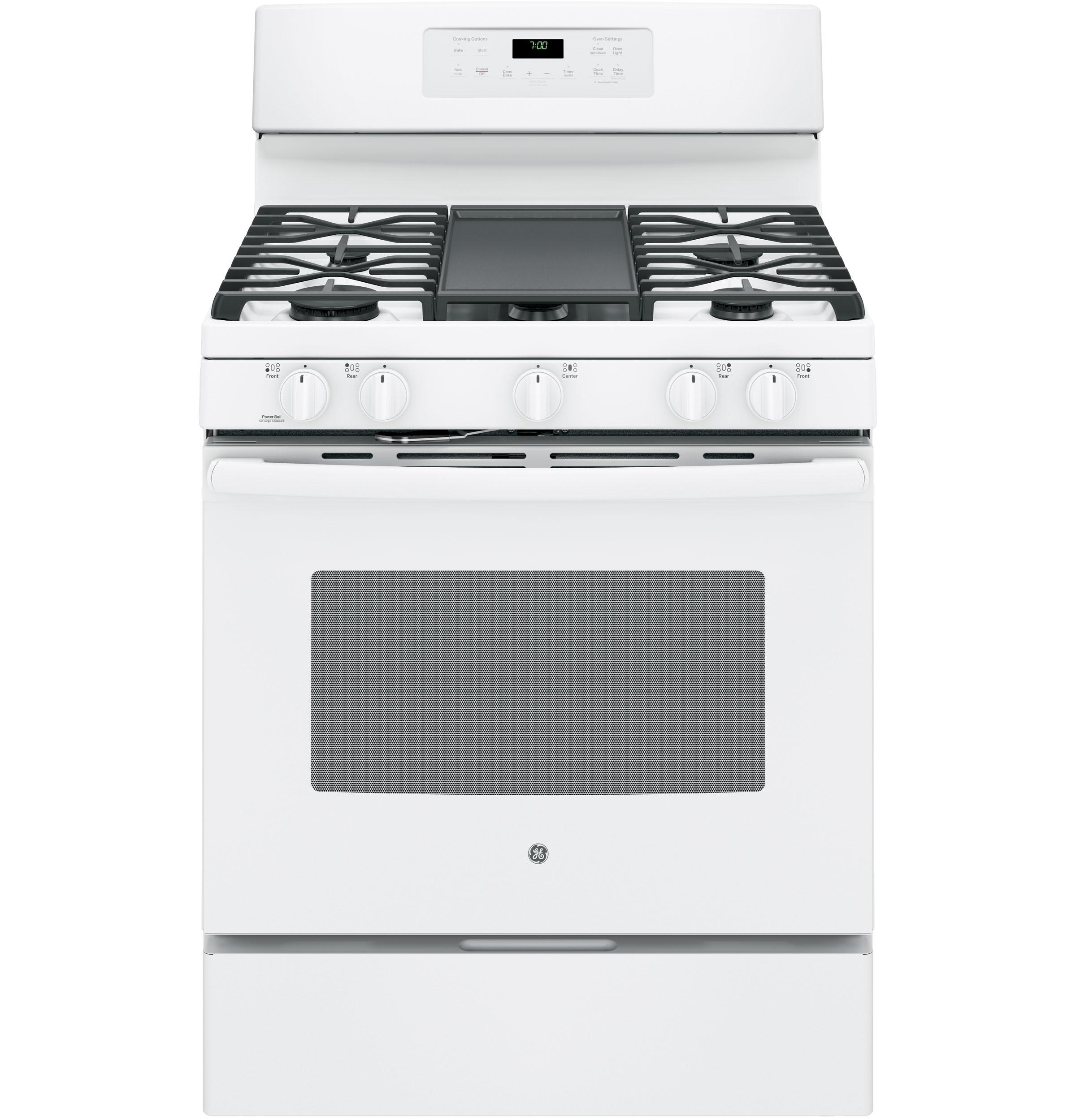 "GE(R) 30"" Free-Standing Gas Convection Range