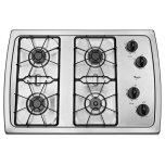 Whirlpool30&quot Gas Cooktop, 4 Sealed Burners, AccuSimmer Burner, ADA Compliant - Stainless Steel