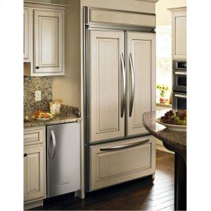 refrigerator kitchenaid built door french panel ready kitchen 42 inch width water panels dispenser cu refrigerators overlay fridge ft whirlpool