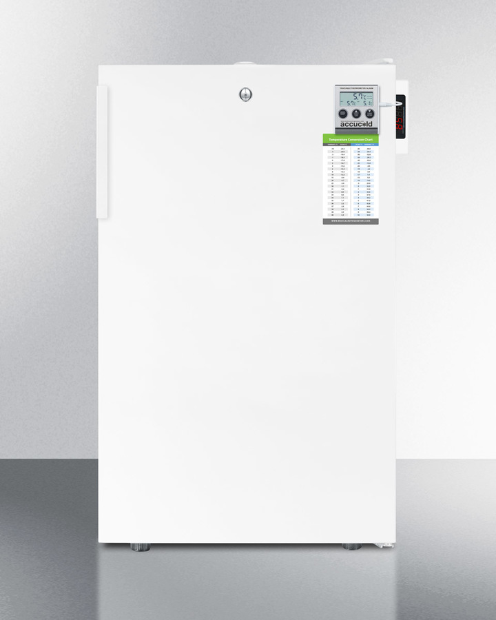 Commercially Listed ADA Compliant All-freezer for Built-in Use, With Digital Thermostat, High Temperature Alarm, Lock, and Hospital Grade Cord