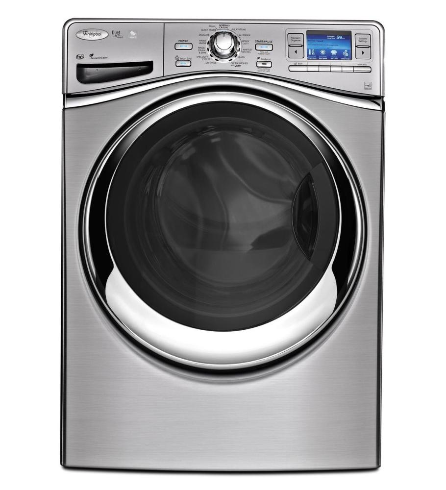 Wfl98hebu whirlpool smart front load washer with 6th sense live technology silver warehouse - Interesting facts about washing machines ...