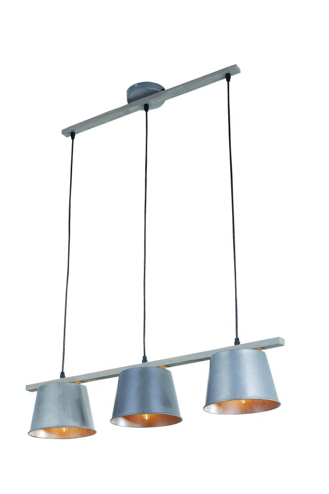 "Industrial Collection Chandelier L31.5"" W:7.5"" H:7"" Lt:3 Antique Finish"