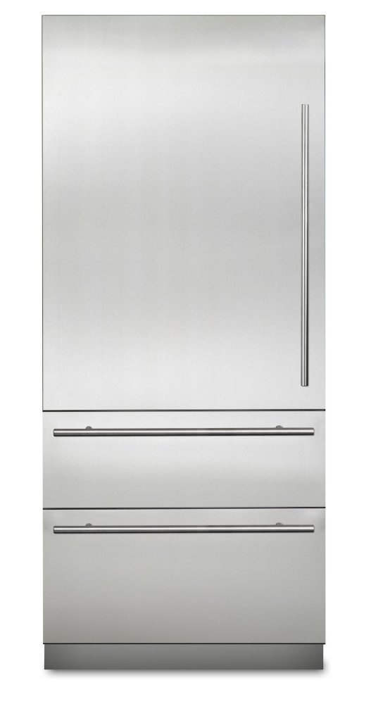 """COMING SOON: 36"""" Virtuoso Fully Integrated Bottom-Freezer Refrigerator, Left Hinge/Right Handle  Stainless Steel"""
