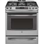 "GE ProfileGE PROFILE Series 30"" Dual Fuel Slide-In Front Control Range with Warming Drawer"