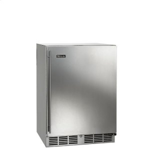 """Perlick 24"""" Built-In Undercounter Outdoor Refrigerator, 5.2 Cu. Ft. Capacity, Digital Control Panel, 2 Wire Racks, Zero Clearance Door Hinge - Custom Panel, Right Hinge"""