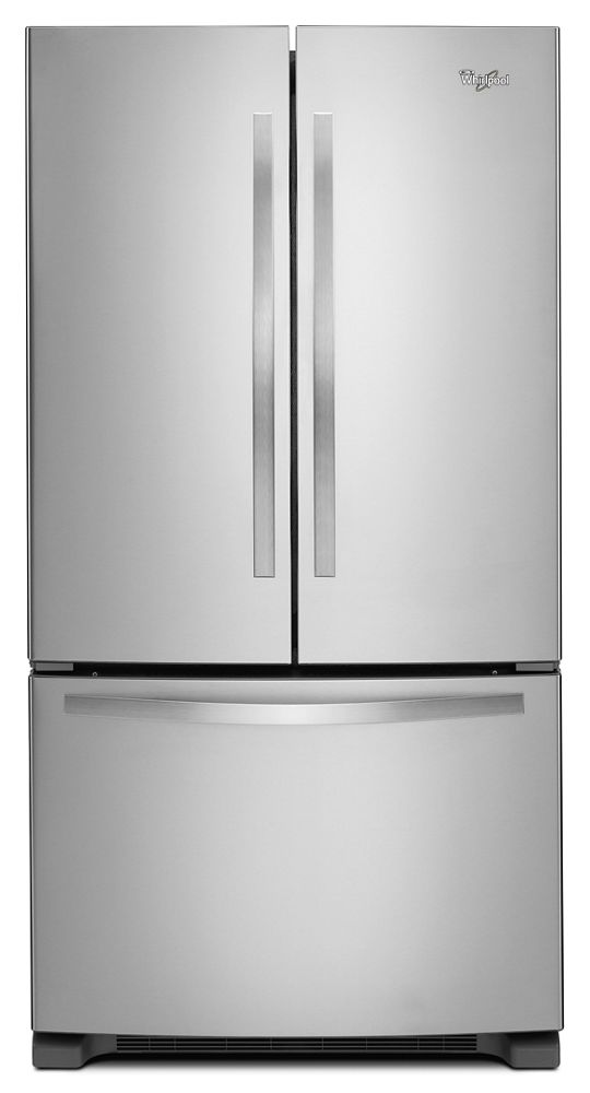 33-inch Wide French Door Refrigerator with Accu-Chill System - 22 cu. ft.  Monochromatic Stainless Steel