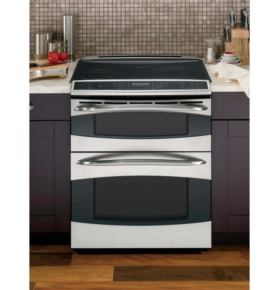 series slidein double oven electric range