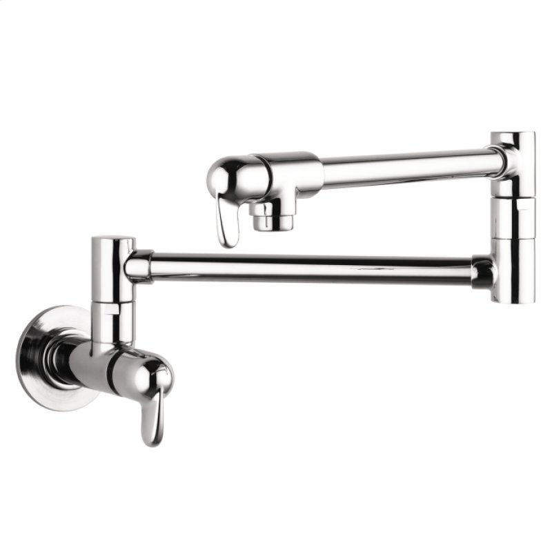 04059000 In Chrome By Hansgrohe In Santa Monica Ca Chrome Allegro E Pot Filler Wall Mounted