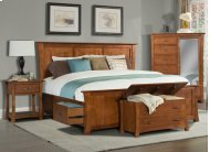 CLEARANCE ITEM--Queen Platform Storage Bed