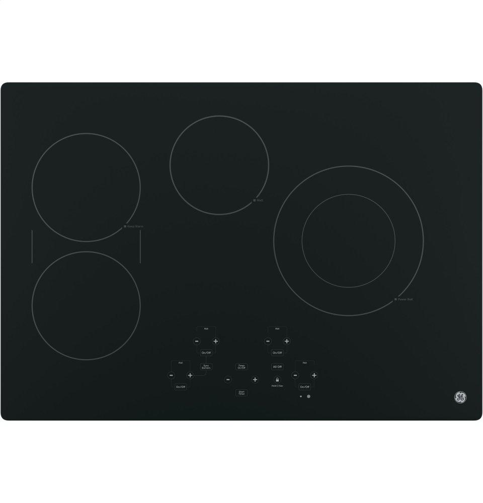 """GE(R) 30"""" Built-In Touch Control Electric Cooktop  Black"""