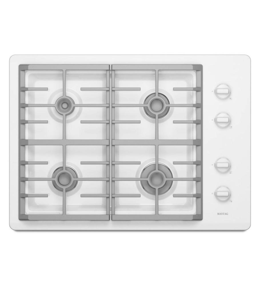 Discount Electric Cooktops 30 In ~ Mgc ww maytag white r inch gas cooktop
