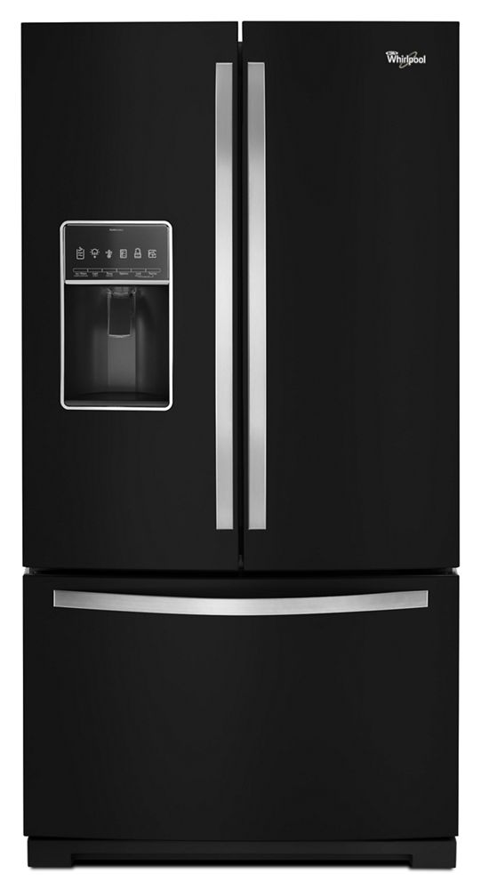 36-inch Wide French Door Bottom Freezer Refrigerator with StoreRight System - 27cu. ft.  Black Ice