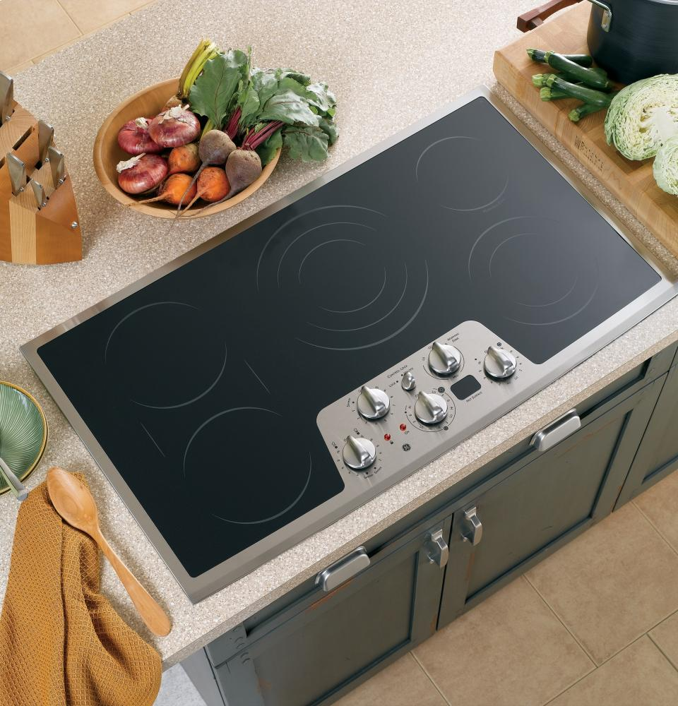 Electric Range Smooth Top Cooking Surface Summit On In: PP962SMSS GE Profile Series 36