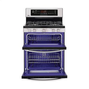 LDG3037ST&nbspLG&nbsp6.1 cu. ft. Capacity Gas Double Oven Range with Infrared Grill and EasyClean