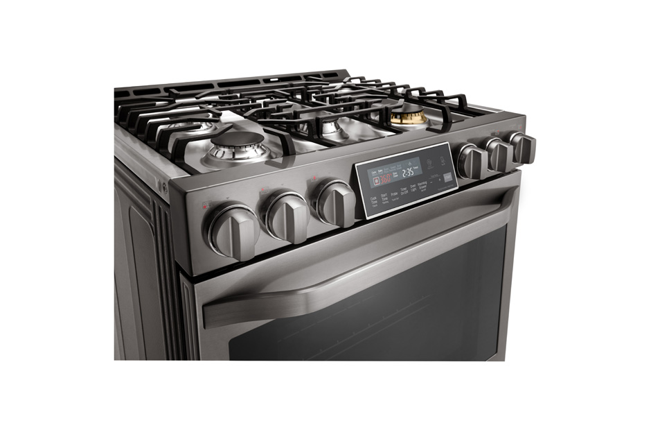 LG STUDIO - 6.3 Gas Slide-In-range with ProBake Convection(R)