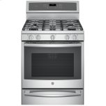 "GE ProfileGE PROFILE(TM) Series 30"" Free-Standing Gas Convection Range with Warming Drawer"