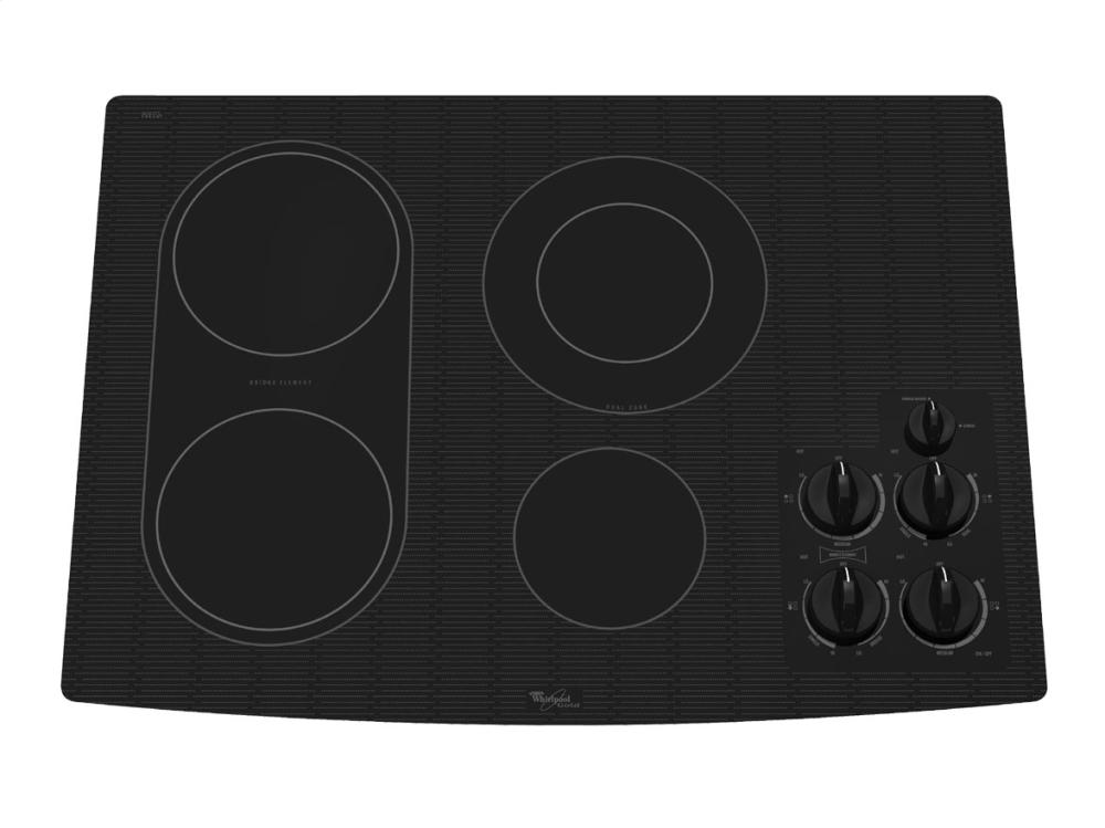 30 Inch Electric Cooktop ~ Inch electric ceramic glass cooktop with bridge element