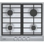 "Bosch500 Series, 24"" Gas Cooktop, 4 Burners, Stainless Steel"