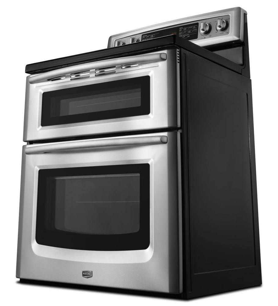 capacity double oven electric range with evenair convection