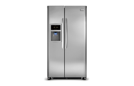 frigidaire refrigerator ice maker hookup Frigidaire frs23r4a 23 cu ft side-by-side refrigerator frigidairehater stay away from frigidaire the frs23r4a ice bins holds up refrigerator with ice maker.