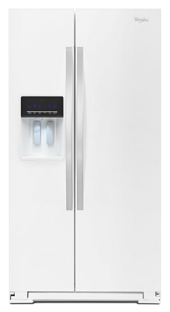 36-inch Wide Side-by-Side Refrigerator with Temperature Control - 26 cu. ft.  White Ice