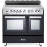 VeronaVerona Matte Black 36&quot Electric Double Oven Range