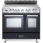 VeronaVerona Matte Black 36&quot Electric Double Oven Range