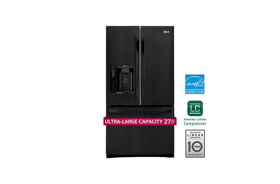 27 cu. ft. Ultra Capacity 3-Door French Door Refrigerator w/Smart Cooling(R)
