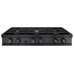 DacorDacor 48&quot Rangetop, Graphite Stainless Steel,Liquid Propane/High Altitude