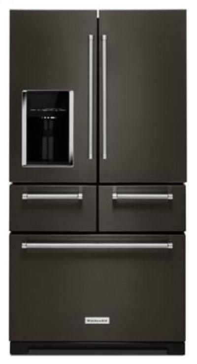 "25.8 Cu. Ft. 36"" Multi-Door Freestanding Refrigerator with Platinum Interior Design - Black Stainless Product Image"