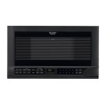 Sharp Over-the-Counter Carousel Microwave Oven 1.5 cu. ft. 1100W Black (R-1210)