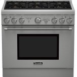 Thermador36 inch Professional Series Pro Harmony Standard Depth Dual Fuel Range PRD366GHU