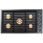 "Dacor36"" Drop-In Gas Cooktop, Graphite Stainless Steel, Natural Gas"
