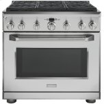 MonogramMonogram 5.7 Cu. Ft. Convection Dual Fuel Professional Range with 6 Burners