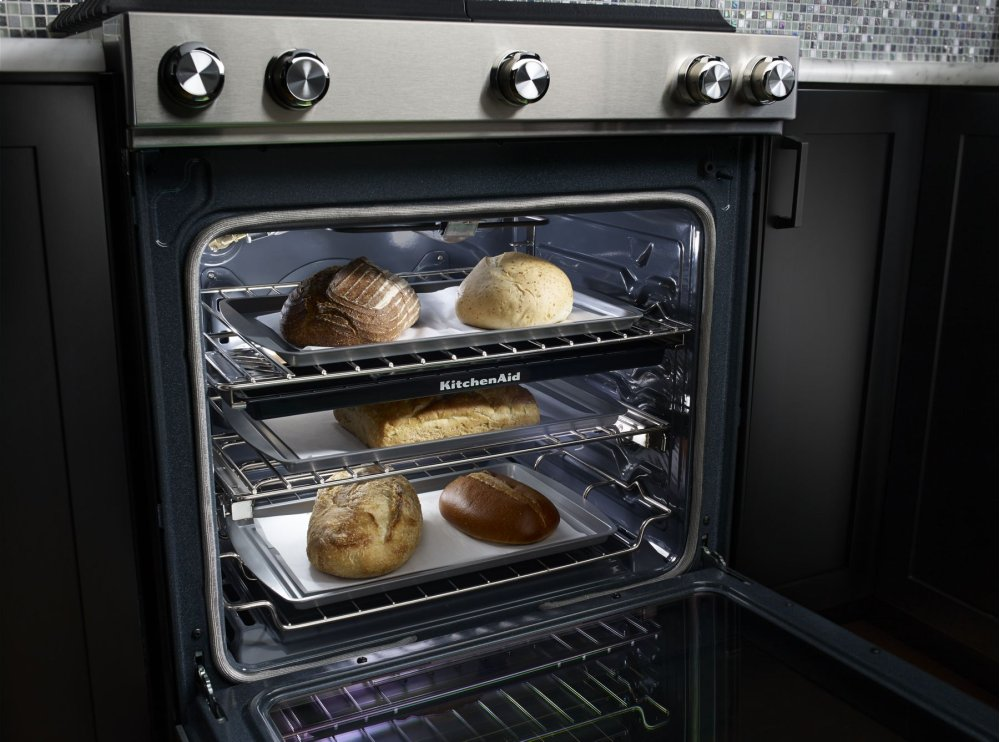 30-Inch 5-Burner Dual Fuel Convection Slide-In Range with Baking Drawer - Stainless Steel Photo #4