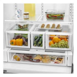 WRF736SDAB&nbspWhirlpool&nbsp36-inch Wide French Door Refrigerator with MicroEdge(R) shelves - 25 cu. ft.