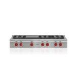 """Wolf48"""" Sealed Burner Rangetops - 6 Burners Griddle"""