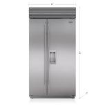 Sub ZeroSub Zero 42&quot Classic Side-by-Side Refrigerator/Freezer with Dispenser