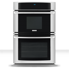 best kitchen appliance package deals electrolux wavetouch ew30mc65ps 30in self clean wall oven microwave combination 42 cu ft hidden