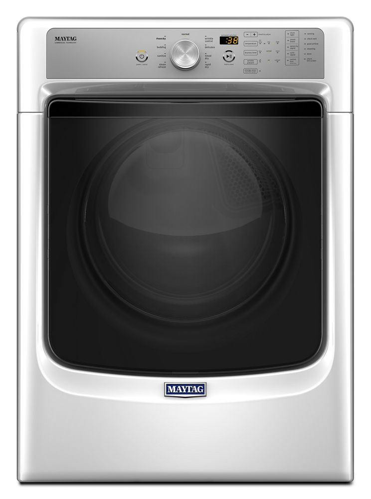Large Capacity Dryer with Sanitize Cycle and PowerDry System - 7.4 cu. ft.  White