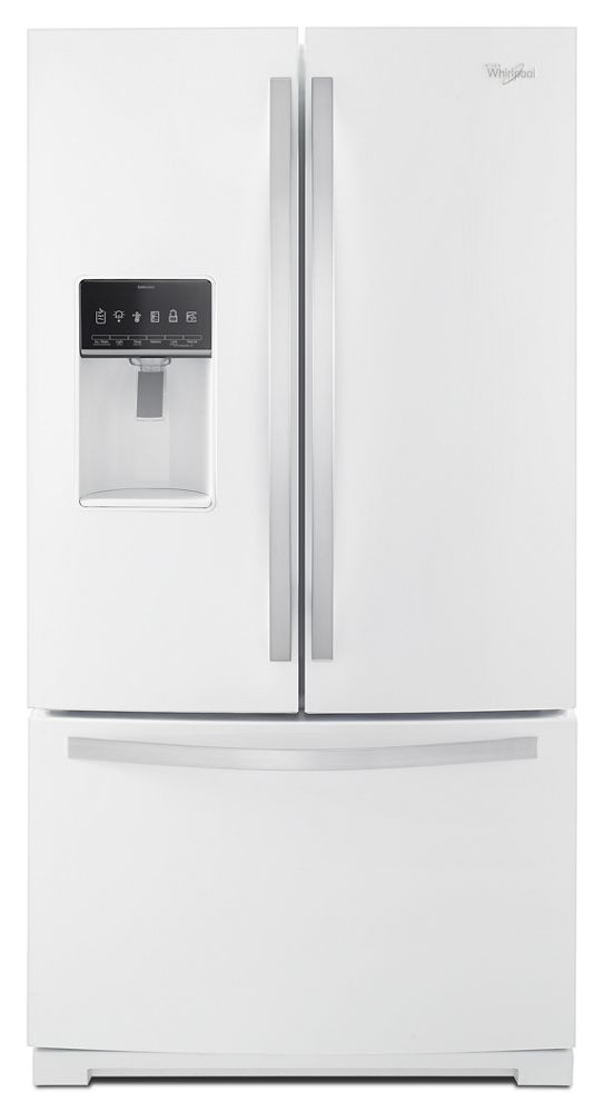 36-inch Wide French Door Bottom Freezer Refrigerator with StoreRight System - 27cu. ft.  White Ice